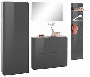 Garderoben Set Grau : garderoben set goccia 4 tlg mit griffloser optik bestellen baur ~ Markanthonyermac.com Haus und Dekorationen