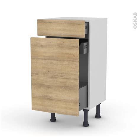 meuble de cuisine range 233 pice hosta ch 234 ne naturel 3 tiroirs l40 x h70 x p37 cm oskab