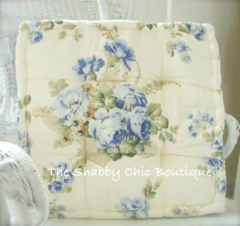 dining room chair pad cushion shabby blue roses chic more available