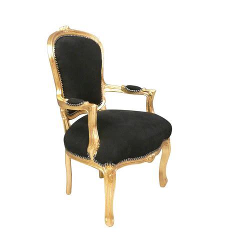 fauteuil louis xv noir et dor 233 fauteuil cabriolet pas cher