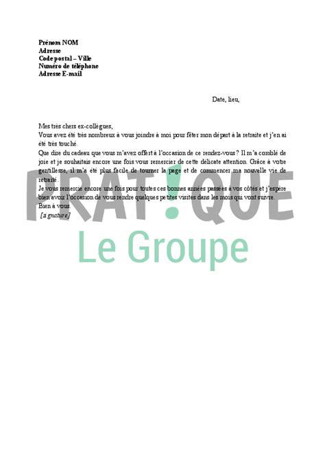 lettre de remerciement apr 232 s d 233 part en retraite pratique fr
