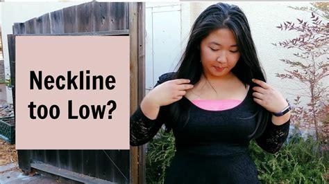 Neckline Too Low? Nosew Diy Fix Youtube