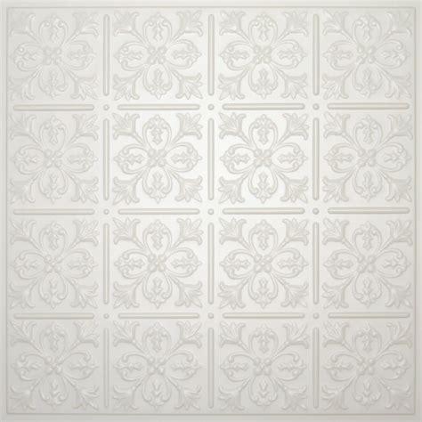 Ceiling Tiles Home Depot Canada by Ceilume Fleur De Lis Sand Ceiling Tile 2 X 2
