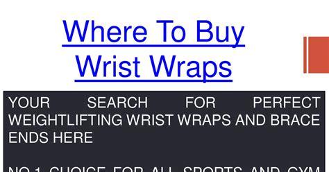 Where To Buy Wrist Wrapspdf Docdroid