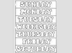 ELEMENTARY SCHOOL ENRICHMENT ACTIVITIES DAYS OF THE WEEK