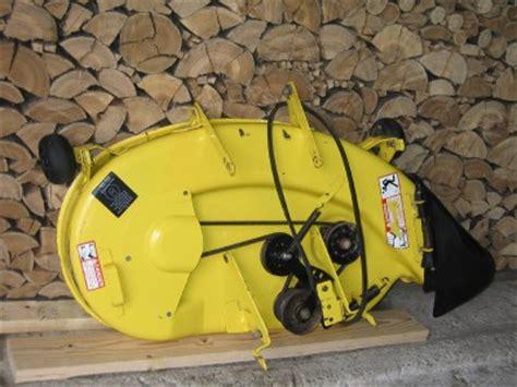 deere stx38 yellow mower deck underside painted no shipping ebay