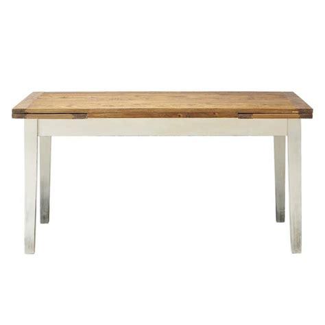 table de salle 224 manger 224 rallonges en bois massif l 160 cm maisons du monde