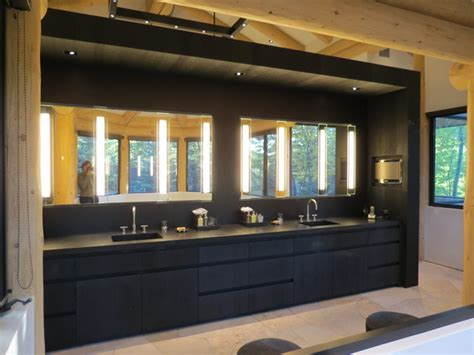 black master vanity modern bathroom denver by 186 lighting design gregg mackell
