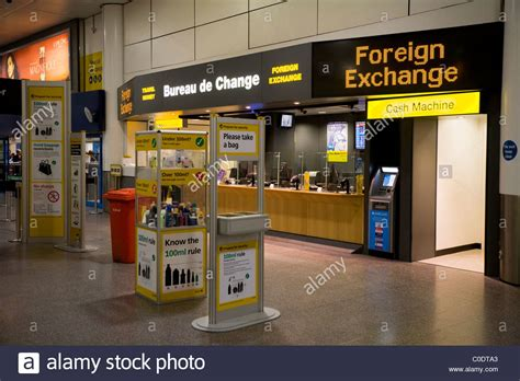 ttt moneycorp bureau de change near the passenger luggage stock photo royalty free image