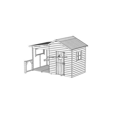 plan maisonnette en bois hacienda