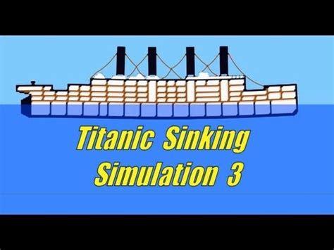 titanic sinking simulation 3 ship sinking sandbox