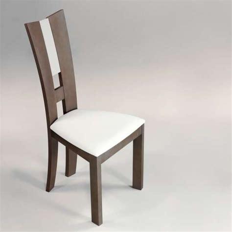chaise de salle 224 manger contemporaine en vinyle et bois massif floriane 4 pieds tables