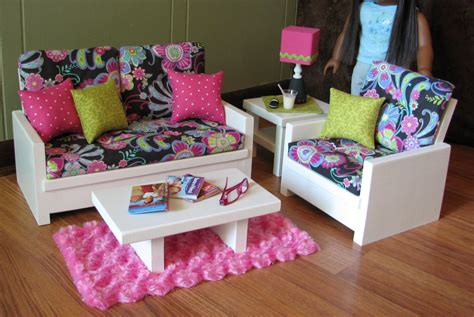 18 doll furniture american sized living room