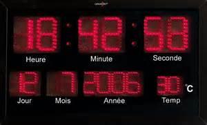 horloge digitale murale radio pilot 233 e 224 led rouges avec thermom 232 tre pearl fr