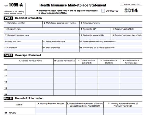irs forms by mail form 1095 a 1095 b 1095 c and instructions obamacare