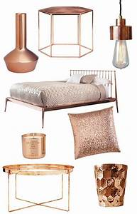 Rose Gold Wandfarbe : wohnaccessoires design in der aktuellen kupferfarbe rose gold pinterest kupferfarbe ~ Markanthonyermac.com Haus und Dekorationen