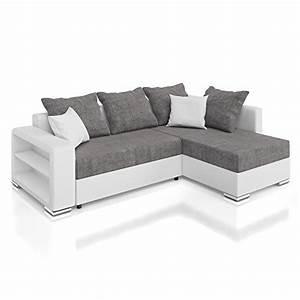 Sofa Relaxfunktion Günstig : vicco sofa couch polsterecke houston ecksofa schlaffunktion schlafsofa wei grau ~ Markanthonyermac.com Haus und Dekorationen