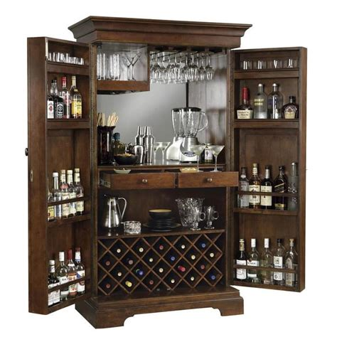 raise a glass stylishly and safely with this locking liquor cabinet for the home
