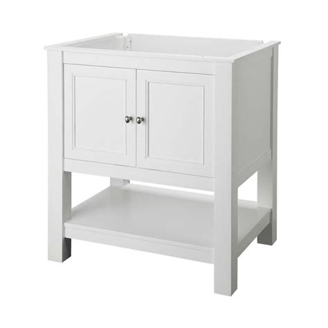 36 inch white bathroom vanity without top