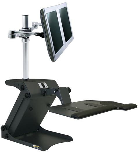 dual monitor standing desk electric height adjustment