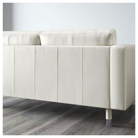 landskrona two seat sofa and chaise longue grann bomstad white metal ikea