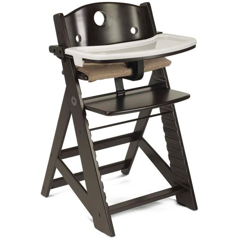 keekaroo height right wooden high chair with tray baby infant booster seat table ebay