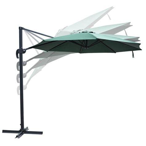 10 deluxe patio hanging roma offset umbrella outdoor cantilever crank w base ebay