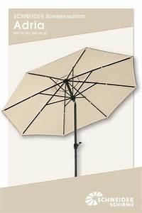 Sonnenschirm 350 Cm : sonnenschirm adria 300 bzw 350 cm bespannung 100 polyester ca 200 g m farblich ~ Markanthonyermac.com Haus und Dekorationen