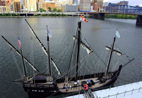 Christopher Columbus Boats In Pittsburgh by Nina Pinta In Pittsburgh October 2015
