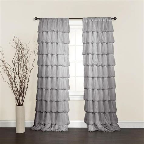 lush decor grey 84 inch curtain panel overstock