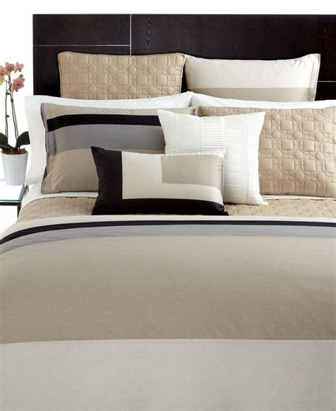 hotel collection panel stripe macy s bedding