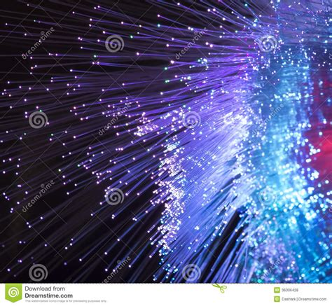 Optical Fibres Dinamic Flying From Deep Royalty Free Stock