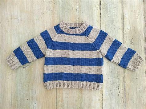 Kids Striped Raglan Sweater, Cardigan, Optional Hood , 6 Sizes, Knitting Pattern