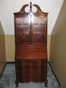 antique cabinet with drop desk for sale