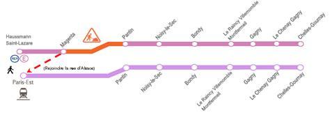 travaux rer e haussmann st lazare chelles 31 mai 2 juin 2013