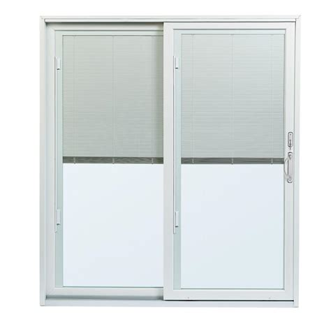 andersen 70 1 2 in x 79 1 2 200 series left perma shield gliding patio door w built in