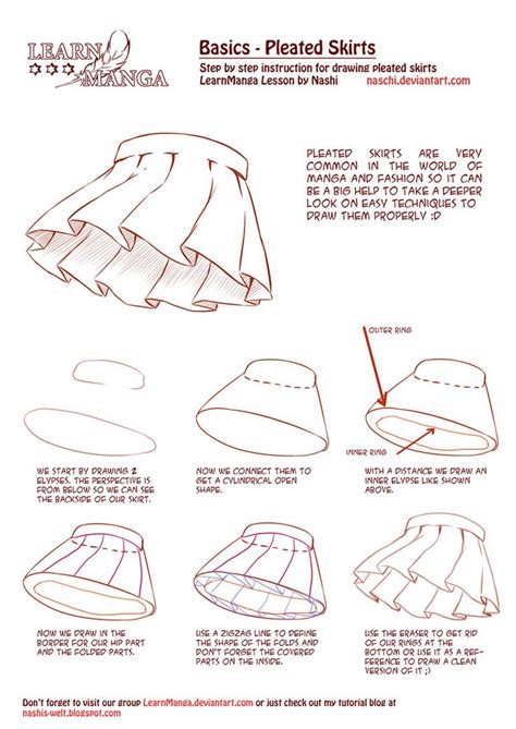Learn Manga Basics Pleated Skirts How To — Drawing Tools