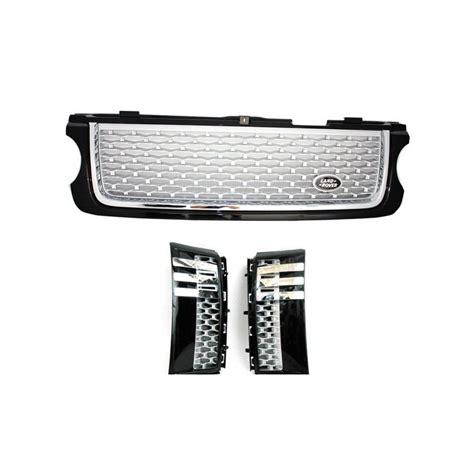 pack calandre black silver pour range rover vogue l322 2010 2012