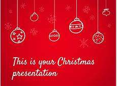 Free presentation template Christmas special