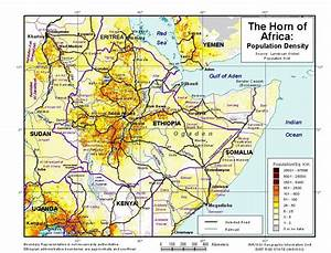 The Horn of Africa - Population Density - Ethiopia | ReliefWeb