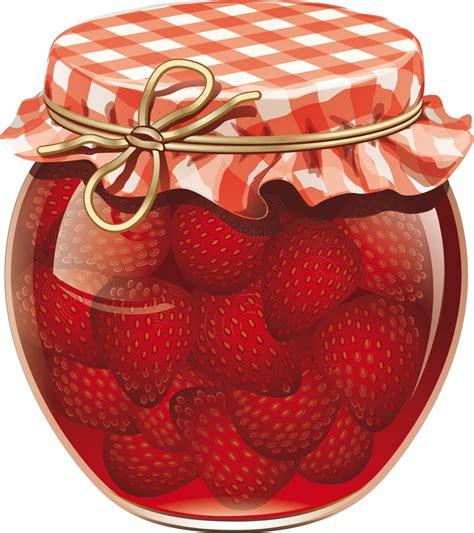 stickers pot de confiture fraise pas cher