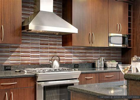 brown metal modern kitchen backsplash tile backsplash