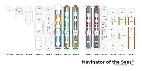 royal caribbean international navigator of the seas kreuzfahrt deck plan house cabin