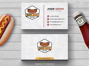 Creative Hot-Dog Fast food Business Card Template