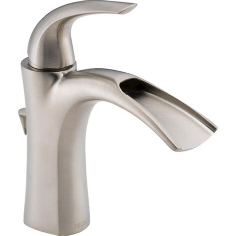delta 174 nyla 1 handle open channel bathroom sink faucet at