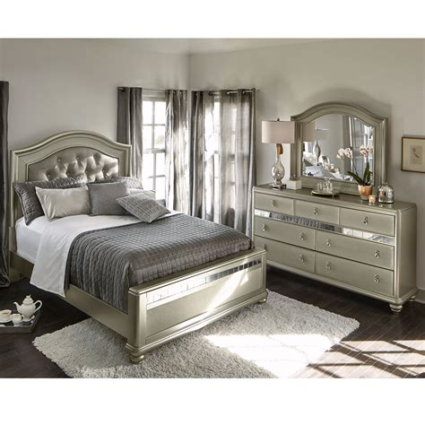 serena 5 bedroom set platinum american signature furniture