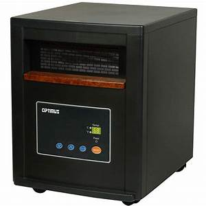 Optimus 1500-Watt Quartz Infrared Heater with Remote-H8012 ...