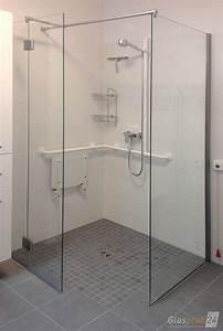 Trennwand Dachschräge Selber Bauen : ebenerdige dusche bauen aus glas glasprofi24 ~ Markanthonyermac.com Haus und Dekorationen