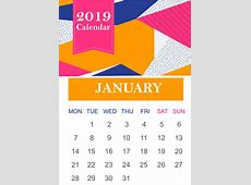 January 2019 Calendar Get here all content of January