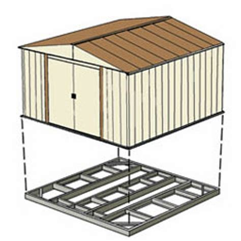 arrow outdoor shed foundation kit 10 x 12 or 10 x 14